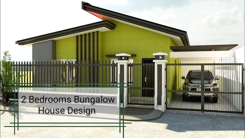 80 SQM Bungalow House Design 8x10 M