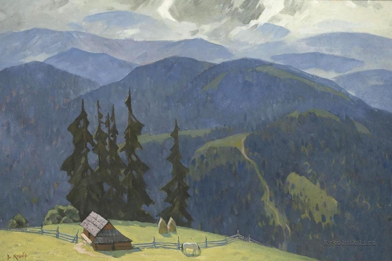 Кушнир В. В. (1926-1992) «Облачный день. Черногора» 1960