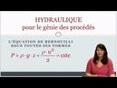 HYDRAULIQUE : formes de l'équation de Bernoulli