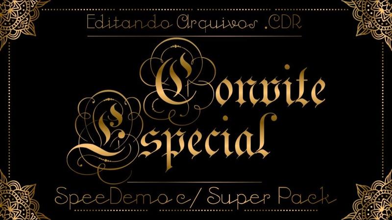 Convite Especial Editando Arquivos do Super Pack no CorelDRAW SpeedDemo