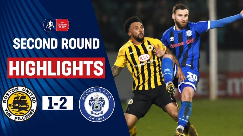 Morley Penalty Seals Third Round Spot Boston United 1 2 Rochdale Emirates FA Cup 19 20