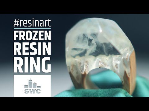 How to make a frozen ring out of beech wood and epoxy resin