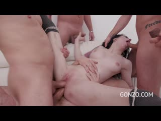 Anna de Ville assfucked by 2, 3, 4, 5 guys and then gangbanged by all 10 of them SZ2348