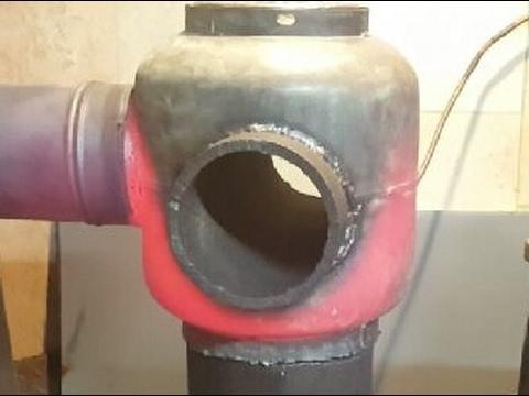 Печь на отработке .Отопление.,,карбюратор'2е турбинки.Для гаражей ,теплиц,сараев.(полная версия).