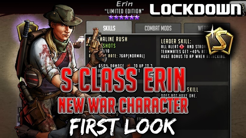 TWD RTS S Class Erin New F2P War Character First Look The Walking Dead Road to Survival