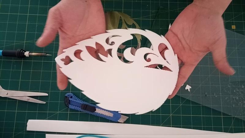 Светильник роза на трубе с ажурными листьями Часть 2
