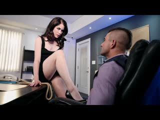 Evelyn Claire - The Girls Next Door Vol. 2 Scene 2 (Blowjob, Black Hair, Office, Natural TIts)