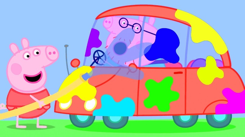 Peppa Pig Official Channel Car Wash with Peppa Pig and Her Family