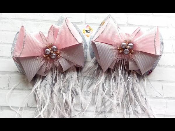 Нарядные бантики из репса! Очень просто! Канзаши МК Fancy turnip bows! Very simple! Kanzashi MK