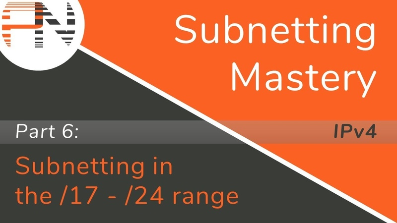 Subnetting Mastery Subnetting in the 17 24 range Part 6 of 7
