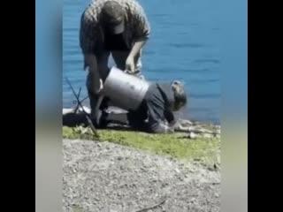 Сходила с мужем на рыбалку