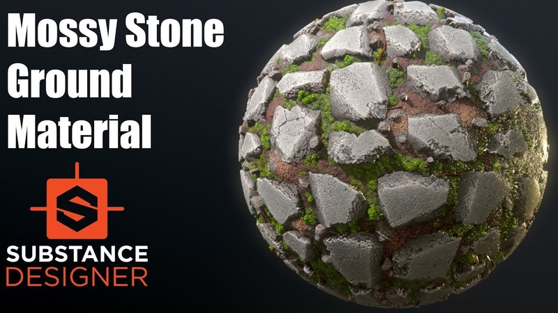 Substance Designer 20 Mossy Stone Ground