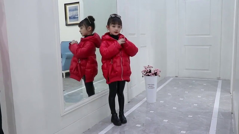 Новая зимняя куртка красного и черного цвета для девочек модные повседневные парки с капюшоном