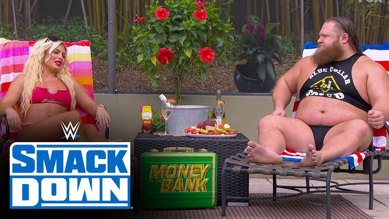 """""""Fast Times"""" for Otis Mandy Rose with dreamy poolside kiss: SmackDown, May 29, 2020"""