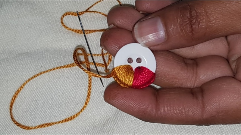 Hand Embroidery Amazing Button Flower Trick Make Beautiful Flower With Multi Hand Stitch Sewing Hack