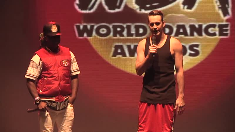Contemporary Eric (Rob Hoffman) and Willdabeast Adams do a contemporary contact Improv dance off at the 2014 WDA