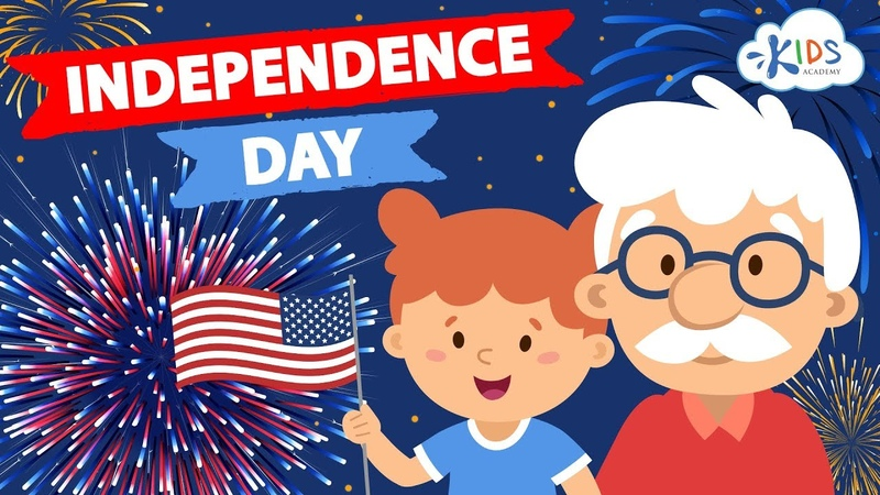 4th Of July For Kids - Independence Day | Story with Interesting Facts for Children | Kids Academy