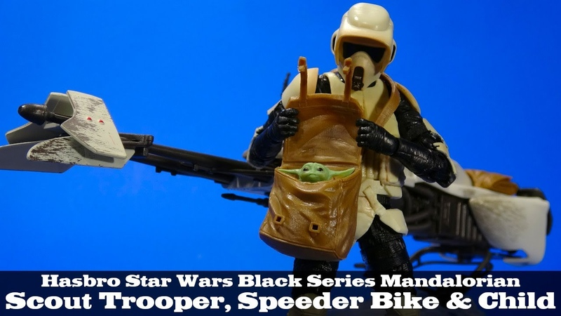 Star Wars Black Series Mandalorian Speeder Bike, Scout Trooper, and Child Action Figure Review