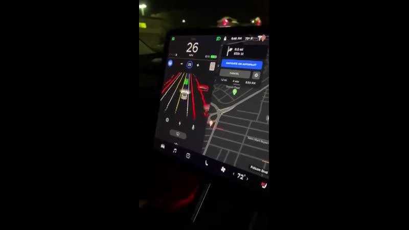 Полностью автономный режим вождения Tesla вступил в закрытую бету