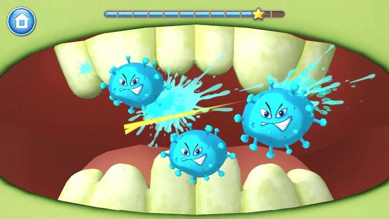 Лунтик Дом На Дереве Игра Лунтик Чистим Зубы И Убиваем Микробы Детский канал Polinka Life