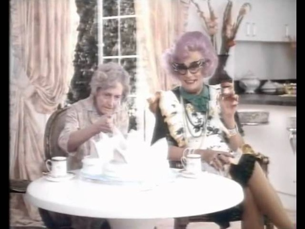 80s and 90s UK Adverts Red Mountain Decaf Coffee Dame Edna Everage Barry Humphries