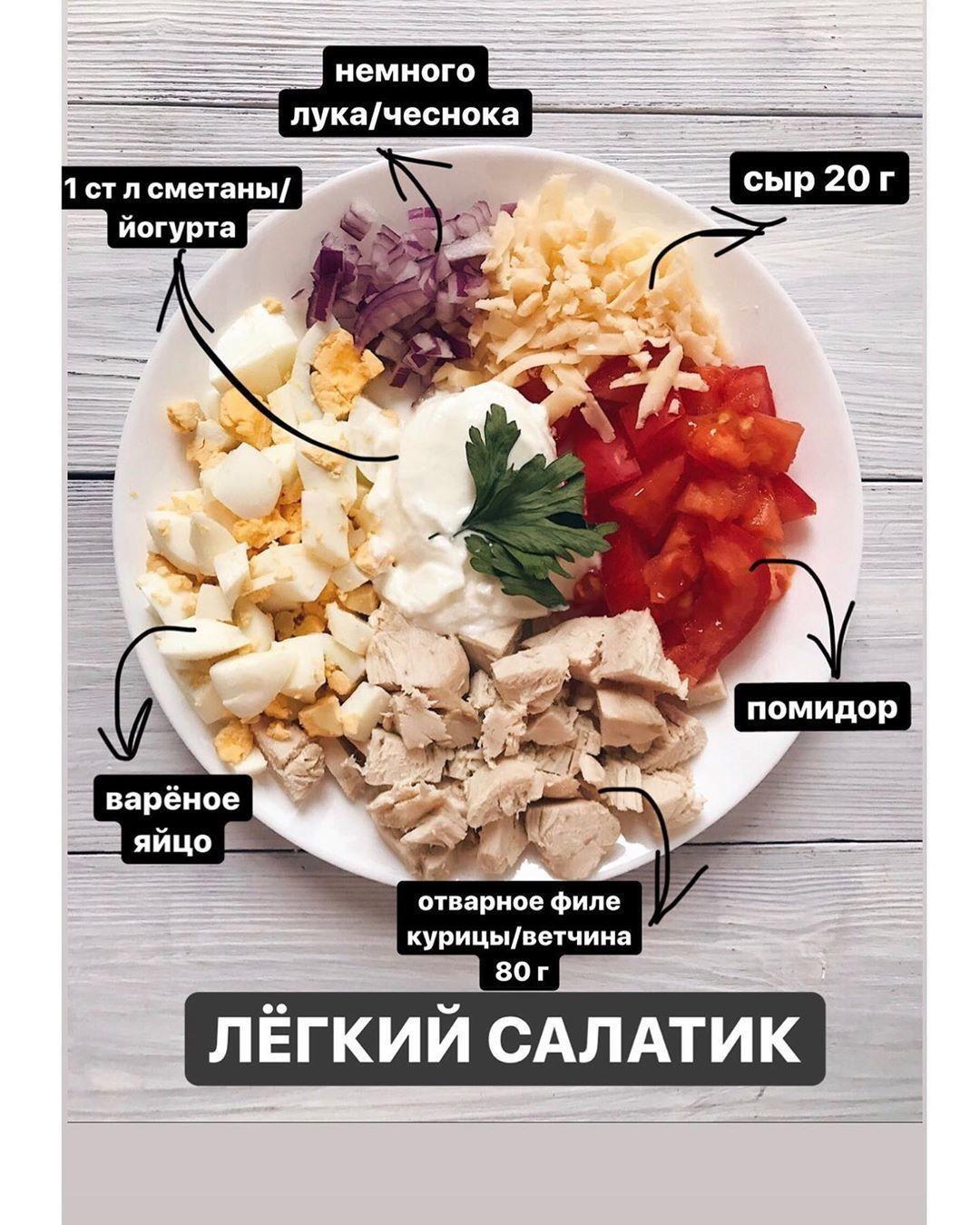 Вариант белкового салатика