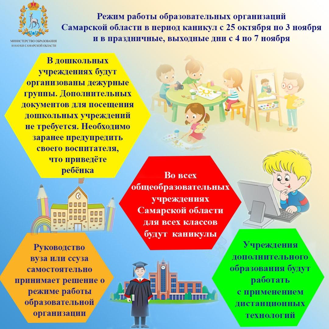 В образовательных учреждениях меняется режим работы!