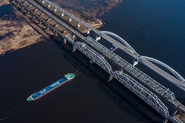 🚗 Старый Борский мост, ведущий с Борского района в...