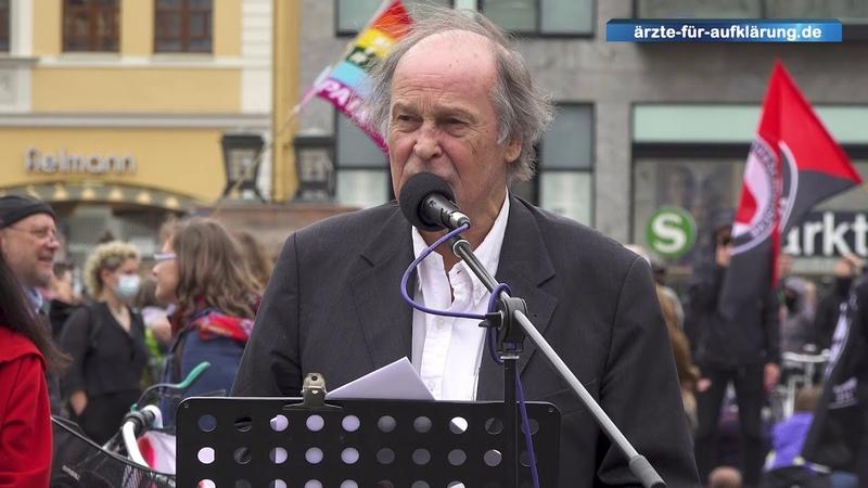 Die Verantwortlichen zur Rechenschaft ziehen Dr. med. Walter Weber bei Demo in Leipzig 30.5.20