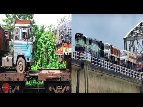 RORO Train To Save Fuels And Time Trucks On Rail Best Of KONKAN Railways Maharashtra Goa