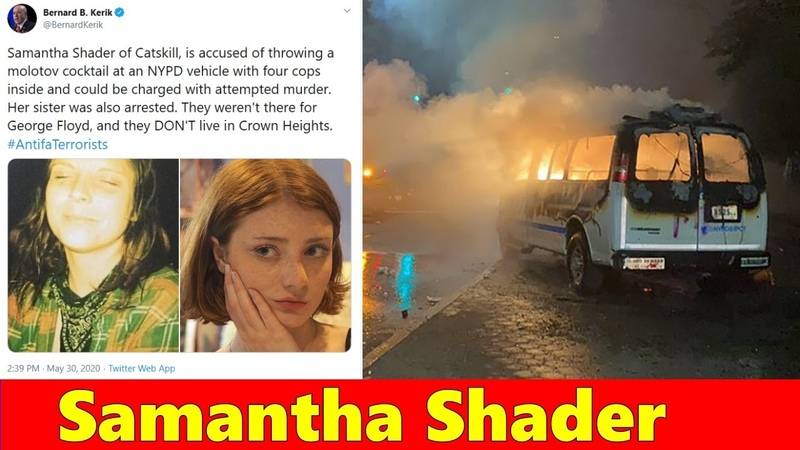 Samantha Shader Schrader Catskill Woman charged with attempted murder of 4 NYPD cops NY protests