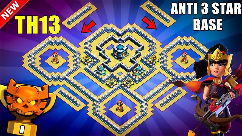 TH13 WarTrophy Base With Copy Link - BEST Anti 3 Star TH13 Base Anti Everything - Clash of Clans