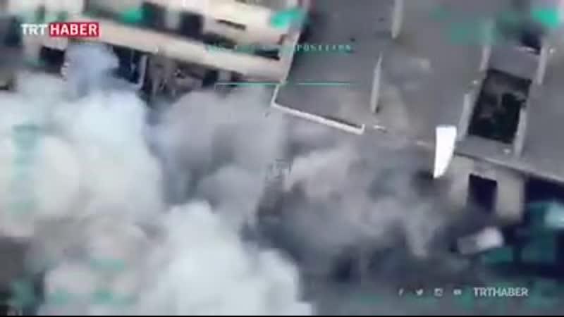 Нові кадри ударів ЗС Туреччини по об'єктах сирійської армії в рамках операції відплати.