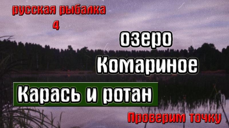 Русская рыбалка 4 рр4 озеро Комариное Карась и ротан