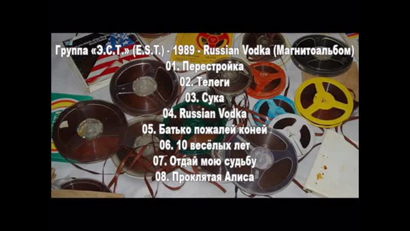 E S T 1989 Russian Vodka Магнитоальбом
