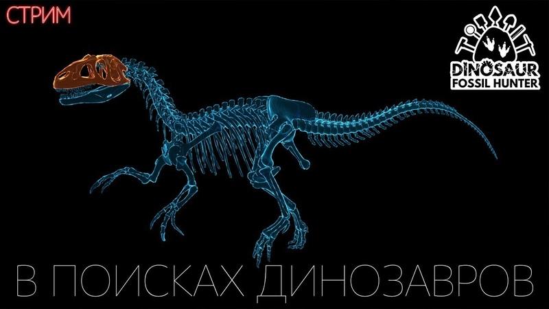 В ПОИСКАХ ДИНОЗАВРОВ Dinosaur Fossil Hunter Приключения Стрим Прохождение