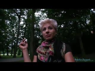 PublicAgent Blonde Czech Babe Fucks on Street for Money