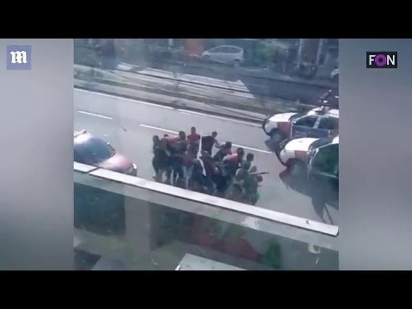 Бразилия полиция против грабителей