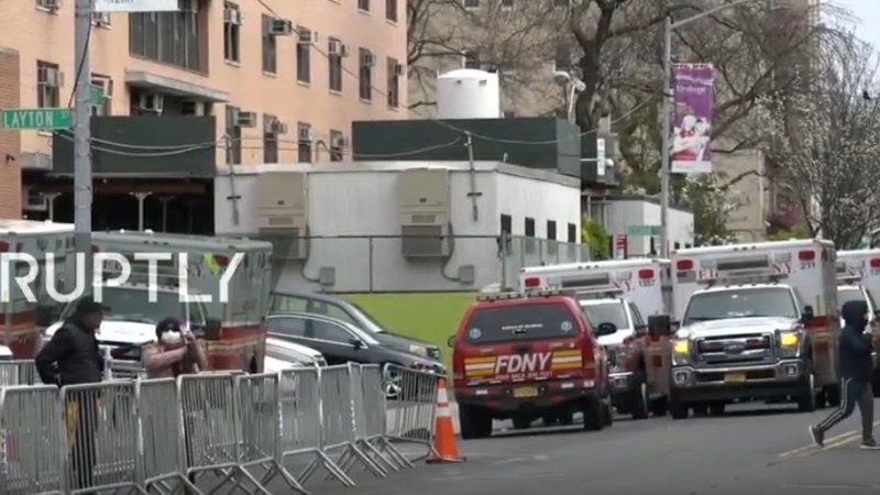 Live from outside NYC hospital as coronavirus cases soar in the US