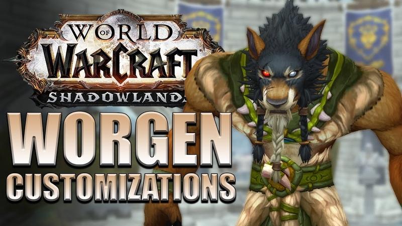 NEW Worgen Customization Options   Shadowlands Alpha