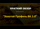 Краткий обзор курса Золотой Профиль ВК 3