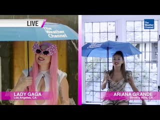 Lady Gaga & Ariana Grande Are The Chromatica Weather Girls