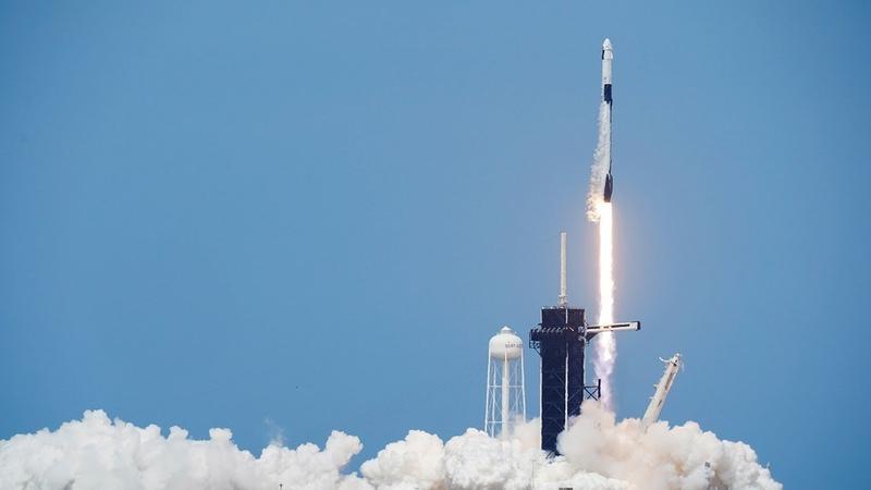 Watch again Nasa and SpaceX launch Crew Dragon spacecraft with Robert Behnken and Douglas Hurley