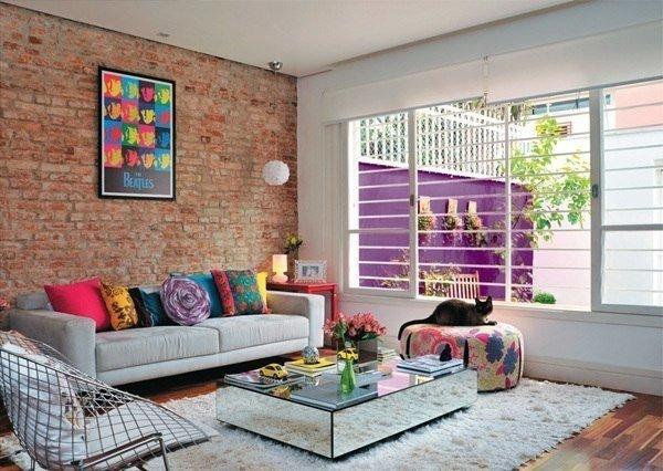 красочный дом в Бразилии