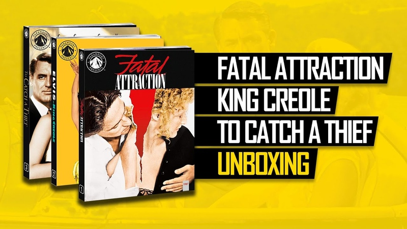 Paramount Presents: Fatal Attraction, King Creole To Catch A Thief (Unboxing)