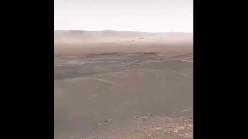 Американцы записали первое видео с Марса Цветное и со звуком