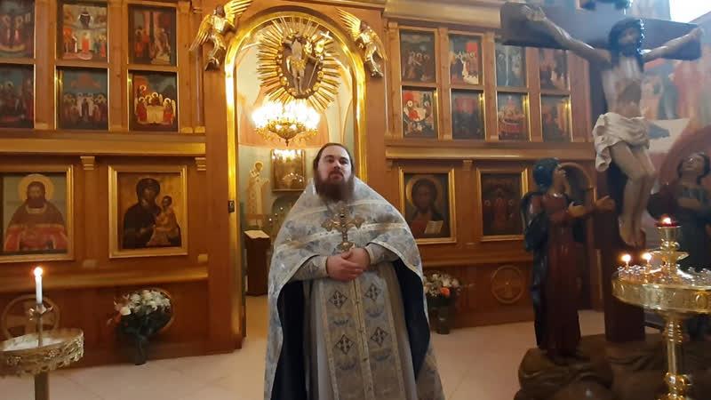 Проповедь иерея Василия Бакулина Сретение Господа Бога и Спаса нашего Иисуса Христа