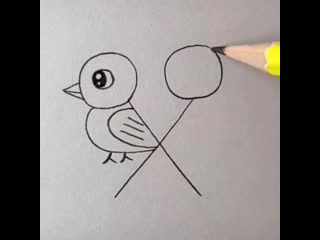 Птички  рисование для деток