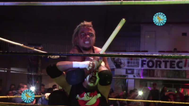 Eric Ryan, G-Raver Kenji Fukimoto vs. Los Mazisos (Ciclope Miedo Extremo) Violento Jack