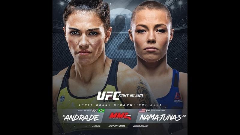 Джессика Андраде против Роуз Намаюнас РЕВАНШ В UFC 3 UFC 251